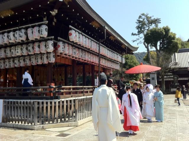 家族旅行  京都 八坂神社